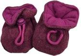 Melton katoenen babyslofjes paars - SALE Maat: 26-27 (15 cm)