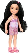 Barbie Club Chelsea Tienerpop Zwart Haar 14 Cm