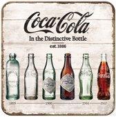 Metalen Onderleggers Coca Cola 5 stuks