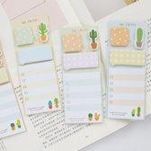 Schattige notitieblokjes met cactussen - Onthoud alles met deze zelf klevende memory notes - Set van 3 stuks