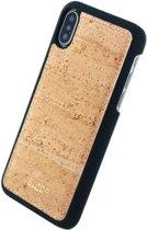 Pelcor Backcover iPhone XS / X - Bruin/Zwart