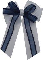 Jessidress Meisjes Haarclip met grote strik en linten - Wit