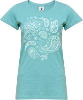 "Yoga-T-Shirt ""paisley"" - mint L Sporttop performance YOGISTAR"