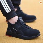 M.O.H.E. Safety Sneakers - Veiligheidsschoen - Stalen neus - Flexibel - Ademend - Licht gewicht - Anti slip – Spijker bestendig - Zwart/Rood - Maten 43