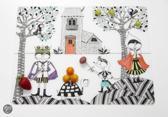 Modern Twist Mark Matz Hide & Seek Placemat - 40 x 32 cm - Wit