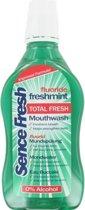 6x Sencefresh Mondwater - Freshmint - 6x500 ml Voordeel Verpakking