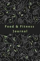 Food & Fitness Journal Health Tracking & Diet Logbook Log Calories, Nutrition, Physical Activity, Weight Goals, Eating Habits Diary