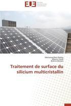 Traitement de Surface Du Silicium Multicristallin