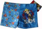 Blauwe strakke zwembroek van Brandweerman Sam maat 98/104