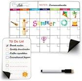 AWEMOZ® Maandplanner - Magnetisch Planbord + To Do List, Marker & Wisser