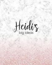 Heidi's Big Ideas: Personalized Notebook - 8x10 Lined Women's Journal
