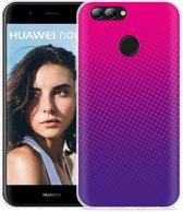 Huawei Nova 2 Hoesje roze paarse cirkels