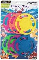 6x Gekleurde duikringen duikspeelgoed