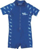 Playshoes UV zwempak Kinderen korte mouwen Shark - Blauw - Maat 122/128