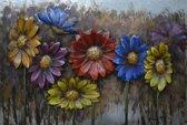 80x120 De kleurrijke bloemen