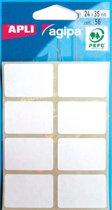 68x Agipa witte etiketten in etui 24x35mm (bxh), 56 stuks, 8 per blad