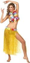 Gele Hawaiiaanse rok voor volwassenen - Verkleedkleding