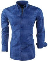 Montazinni - Heren Overhemd - Geblokt - Sax