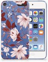 Apple iPod Touch 5 | 6 Uniek TPU Hoesje Watercolor Flowers