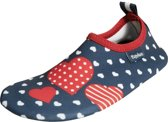 Palyshoes UV Protection Slippers Hearts navy 26/27