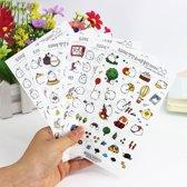 6 velletjes Kawaii Konijntje Molang Stickers Transparant Bol Konijntje Cute