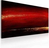 Handgeschilderd schilderij - In het rood  120x60cm