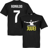 Welcome to Juve Ronaldo T-Shirt - Zwart - XXXL
