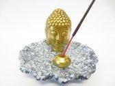 Wierookhouder Boeddha hoofd.