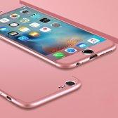 Let op type!! GKK voor iPhone 6 & 6s PC drie - alinea Shield 360 graden volledige beschermende geval back cover(Rose Gold)