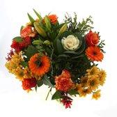 Boeket van Botanicly – Kim Extra Large Orange – Hoogte: 50 cm , 20 takken