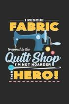 Quilt shop fabric hero: 6x9 Sewing Machine - dotgrid - dot grid paper - notebook - notes