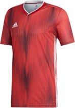 adidas Sportshirt - Maat S  - Mannen - rood/wit