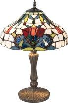Tafellamp Tiffany ø 31*46 cm / E14/max 2*40W Multi | 5LL-5919 | Clayre & Eef