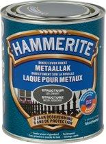 Hammerite Structuurmat Lak Lei Zwart 750 ML