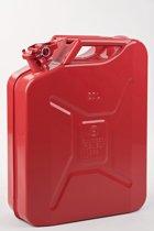 Minalco benzine jerrycan - 20 Ltr metaal - UN goedgekeurd - rood