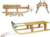 Luxe houten slee opvouwbaar