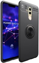Teleplus Huawei Mate 20 Lite Ultra Soft Ravel Ring Silicone Case Black + Nano Screen Protector hoesje