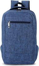 Let op type!! Universele multifunctionele 15.6 inch Laptop Schouderstas studenten Backpack voor MacBook  Samsung  Lenovo  Sony  Dell  Chuwi  Asus  HP  Afmetingen: 43 x 28 x 12 cm (blauw)