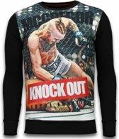Local Fanatic McGregor Knock Out - Digital Rhinestone Sweater - Zwart - Maten: XXL