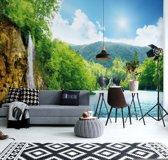 Fotobehang Waterfall Lake Nature | V4 - 254cm x 184cm | 130gr/m2 Vlies