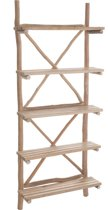 Duverger Nature - Rek - 5 legplanken - hout - naturel