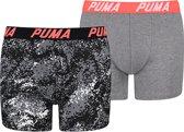 Puma boys 2-pack pixel camo print grijs-134-140