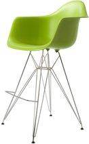 Design kruk DD DAR barkruk PP groen kuipstoel