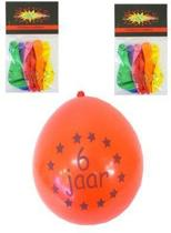 Ballonnen 6 jaar 8 stuks