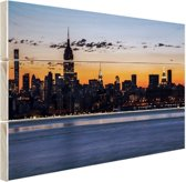 New York City Hout 120x80 cm - Foto print op Hout (Wanddecoratie)