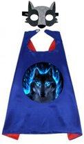 Wolf - Superhelden Kostuum cape voor jongens en meisjes 3 tot 10 jaar