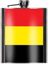 Heupfles Belgische vlag 200 ml