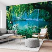 Fotobehang verborgen meer - 254x368 cm (hxb) - 4 rollen behang