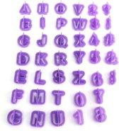 Set 40 Delig – Alfabet Koekvormpjes Met Cijfers en 5 Leestekens – Fondant & Koekjes Vormen – Bakvorm – Bakset – Letters en Cijfers – Uitsteekvorm / Uitstekers – Cookie Cutter Set – Numbers – EPIN 3D