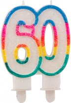 Glitter kaars 60 jaar